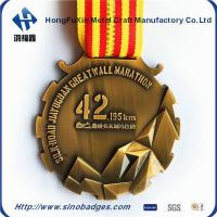 Quality Beautiful Brass, 3D Mountains 42KM Marathon Medal wholesale