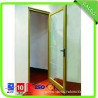 China Decorative Double Glass Aluminum Profile Sliding Glass Door With Security Net on sale