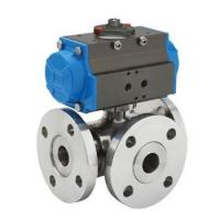 Quality GB Ball Valves Pneumatic three way ball valve wholesale