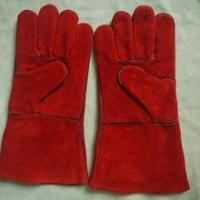 New products leather heat resistant welding gloves for welders with EN12477
