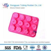 China Flower Shaped Silicone Cake Baking Tray Molds for Sale on sale