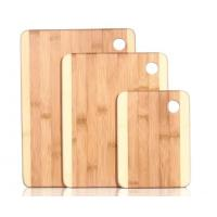 Quality Set of 3 Chopping Boards, Two Toned Bamboo Wooden Cutting Board Set with Round Handle wholesale