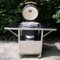 China Hot 21'' ceramic bbq grill with stainless steel table on sale