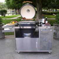 Quality Wholesale christmas gift New Kamado with Stainless steel table wholesale