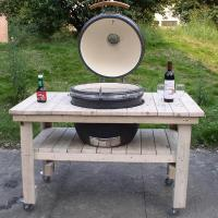 Quality 21' kamado bbq grill /ceramic charcoal bbq grill with table wholesale
