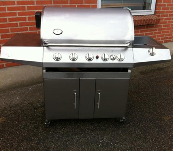 Cheap Propane gas grill with 5 burners and rotisserie for sale