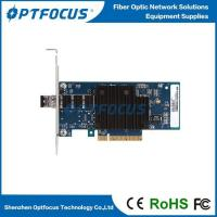 Buy cheap 10Gbps Optical Network Adapter Card Single Port SFP+ Slot LC Fiber 0-120KM from wholesalers