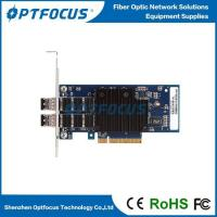 Buy cheap INTEL 82599 Chipset .PCI Express 2*10G SFP+ Fiber Optical 10G Ethernet Network Server Adapter Card from wholesalers