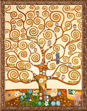 Cheap Gustav Klimt Tree of Life Hand Painted Reproduction Oil Painting for sale