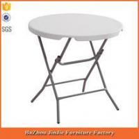 China Light clean Folding table plastic round table on sale