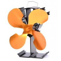 China wood burner stove fan-4 blade in gold on sale