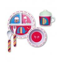 China Babies and Kids Sweet Heart Child's Melamine Dinner Set - C. R. Gibson on sale