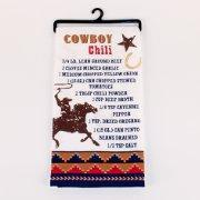 Quality Chili Recipe Flour Sack Kitchen Towel with Cowboy and Horse wholesale