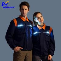 China LED Light Glowing Warning Workwear Reflective Safety Uniform Jackets for Worker on sale