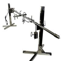 China Camping Outdoor Portable Stainless Steel Charcoal Tripod Rotisserie Camping grill on sale