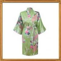 Buy cheap In stock white satin floral bridesmaid bath robes for wholesale from wholesalers