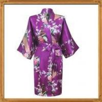 Buy cheap In stock silk satin floral Sleepwear for women from wholesalers