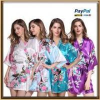 Buy cheap wholesale satin floral long kimono robe for women from wholesalers