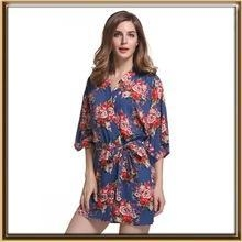 Cheap In stock floral bridesmaid cotton robe for wholesale for sale