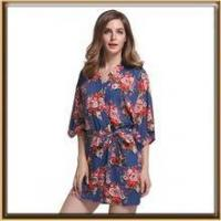 Buy cheap In stock floral bridesmaid cotton robe for wholesale from wholesalers