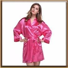 Cheap Wholesale supply polyester silk Solid Colors robes for sale
