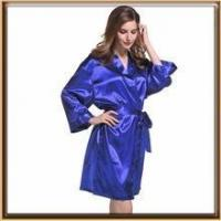Quality In stock supply solid colors lain silk robe for laides wholesale