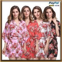Cheap cotton made bridesmaid floral robe for wholesale for sale