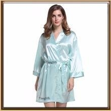 Cheap supply spandex 3/4 sleeve bridal party silk robe for wholesale for sale