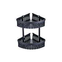 China 3282B Shower Caddy Corner In Elegant Black Wall Mounted on sale