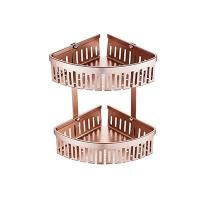 China 3282LG Shower Caddy In Champaign Gold Corner Wall Mounted on sale