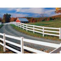 China 3 Rails PVC Horse Fence on sale