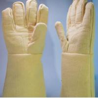 Quality 500 Degree High Temperature Heat Resistant Gloves Yellow Work Safety Gloves wholesale