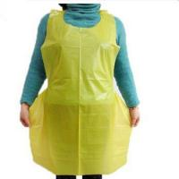 Buy cheap Factory price disposable PE bakery apron from wholesalers