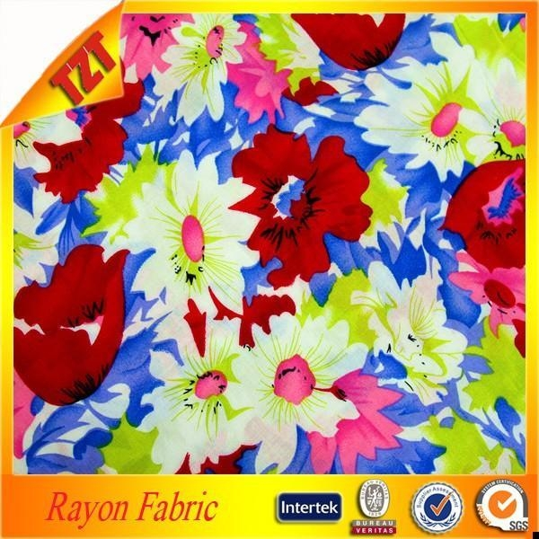 Cheap 2015 manufacture suppliers rayon printed fabric besting selling for sale
