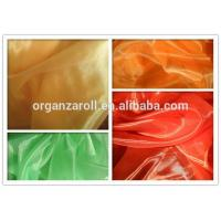 Quality polyester crystal organza besting selling in dubai children dress fabric wholesale