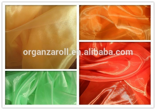 Cheap polyester crystal organza besting selling in dubai children dress fabric for sale