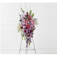 Quality Sympathy Flowers The FTD Tender Touch Standing Spray wholesale