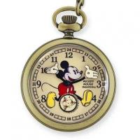 China Ingersoll Disney Gold Mickey Mouse Pocket Watch 1930's Collection on sale