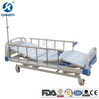 China Medical Equipment Stainless Steel Hospital Manual Bed with Hand Control on sale
