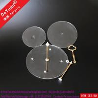China acrylic cake stand 3 Tier Wedding Cake Stand For Cup Cake / Round Cake Towers on sale