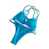 Buy cheap Blue Braided Double Straps 2pcs Swimsuit LC410095-8 from wholesalers