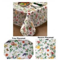 China Enchanted Garden Flannel Backed Vinyl Tablecloth by Lintex on sale