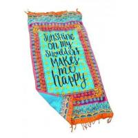 Buy cheap Beach Towel Sunshine On My Shoulders Makes Me Happy LC42113-22 from wholesalers