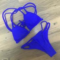 Buy cheap Royal Blue Braided Double Straps 2pcs Swimsuit LC410095-4 from wholesalers