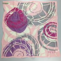 China Pink fashion neckwear satin square scarf on sale