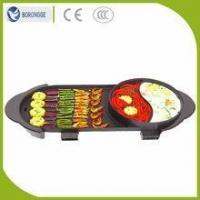 Quality KW-135A CE Approved Non-Sticked Two-Flavor Hot Pot Electric Barbecue Grill wholesale