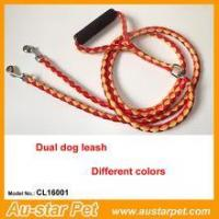 Quality High Quality Nylon Braided Dual Pet Dog Leashes with Foam Handle wholesale