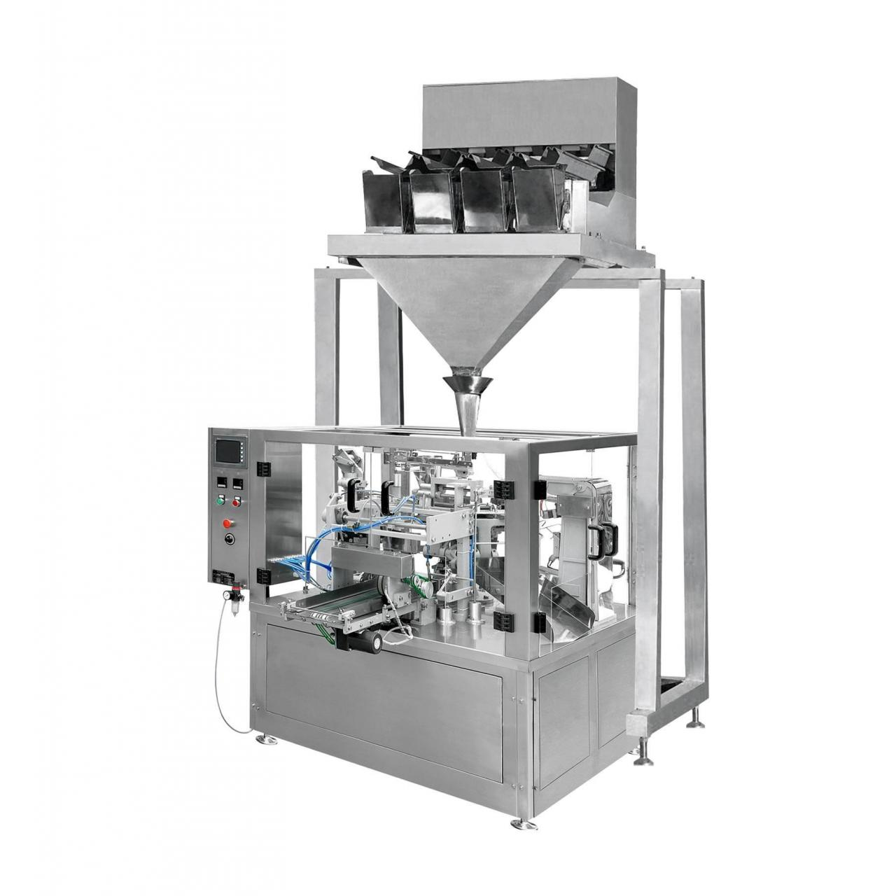Quality Automatic Rotary Pouch Filling Machine & Four Head/Six Head Weighing Machine (XFG) wholesale