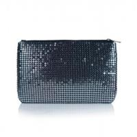 Evening bags Shiny lady silver eel evening bagGunmetal Lady Evening Party Chainmail Bag