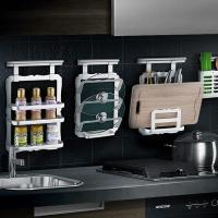China Household storage rack Wall-mounted multi-functional kitchen storage rack on sale